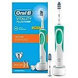 Oral-B Vitality Plus TriZone - Cepillo de dientes eléctrico recargable, batería, temporizador, verde, color blanco