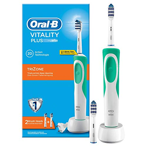 Oral-B Vitality Plus TriZone - Cepillo de dientes eléctrico recargable, batería, temporizador,...