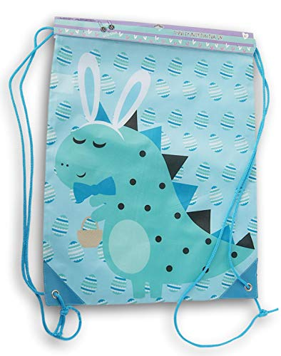 For Sale! Almar Sales Company Easter Dinosaur Themed Drawstring Cinch Bag Backpack - 13.5 x 16 Inche...