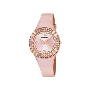 Reloj analógico Calypso para Mujer con Pantalla Oro Rosa y Correa de Piel