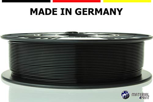 Material4Print - ASA Filament Ø 1,75mm 750g Rolle - Premium-Qualität für 3D Drucker (Tiefschwarz)