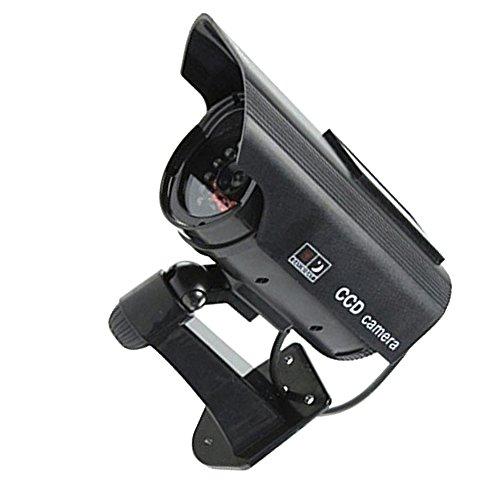 Supmico schwarz Solarenergie Dummy Fake LED blinkt ¨¹berwachungskamera CCTV ¨¹berwachung Nachahmung Security Camera Warnung Blinkt