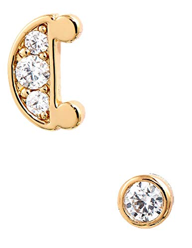 kate spade new york initial mismatched stud earrings C