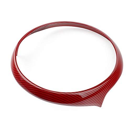 para M-INI para C-ooper para C-ountryman F60 Instrumento Interior Fibra Carbono para Coche Panel Control Central Cubierta Decoración del Marco (Color : Rojo, Talla : 6.5 Inch)