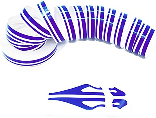 ZATOOTO Violet Pinstripe Tape for Car - DIY Vinyl Pin Striping Decals Auto Waterproof PViolet Stripe Tape Emblems Trim Universal for Automobile Musical Instrument Home Door etc