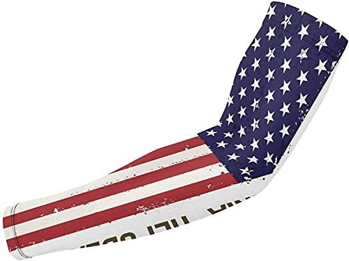 Blue-shore Volleyball-Armmanschette  Sonnenschutz Arm Ärmel Amerikanische und kalifornische Flagge Arm Ärmel für Basketball,Laufen und Herren Damen-Weiß-Einheitsgröße