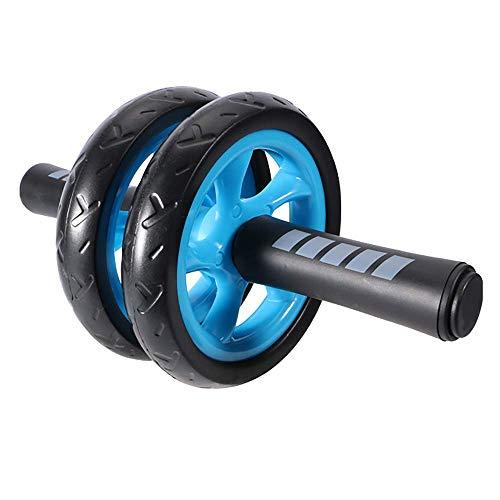 Jszzz Ab Bauch-Übung Roller Doppelräder zu Hilfe Ausgewogene Fitness Krafttraining Maschine AB Rad-Gym-Tool