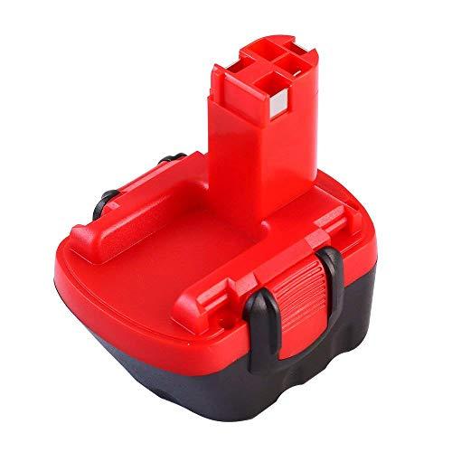 FUNMALL Ni-MH 12V 3,6Ah Batería de Taladro para Bosch BAT043 BAT045 BAT120 BAT139 2607335542 2607335526 2607335274 2607335709 GSR 12-2 12VE-2 PSR 12 GSB 12VE-2 22612 23612 32612