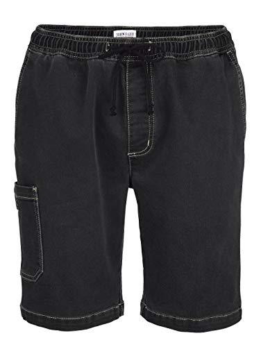 John F. Gee Herren Jogpants-Bermuda Black Stone 48 Baumwolle