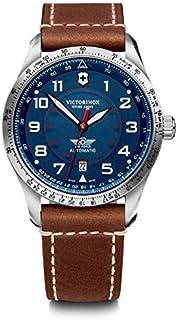 Victorinox - Hombre Airboss Mechanical - Reloj de Acero Inoxidable/Cuero automático Hecho en Suiza 241887