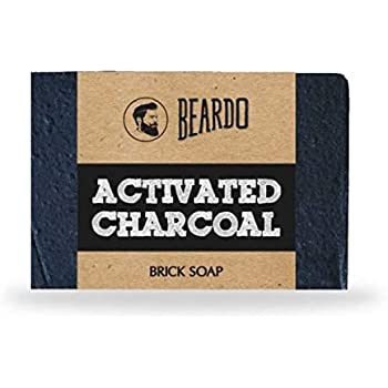 Beardo Activated Charcoal Brick Soap, 125g