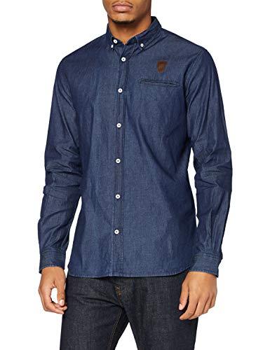 Kappa DETENTE Denim ASM Camisa de Vestir, Hombre, Azul, Medium
