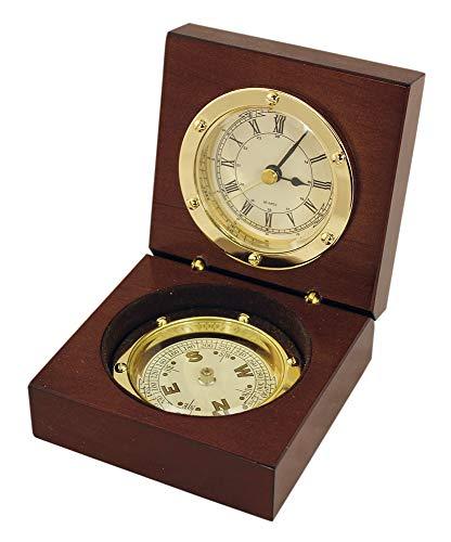 Nautic Spezial MV Uhr Kompass in Holzbox