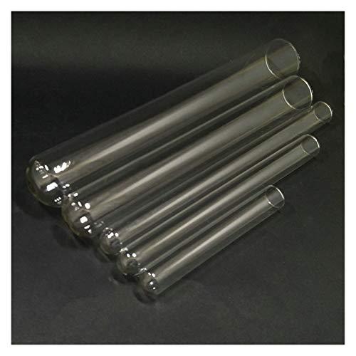 XIAOYAFANG Hxfang® 10pcs / Lot DIA10 / 12/13 / 15mm Tubo de ensayo de Vidrio para la cristalería de Laboratorio Escolar (Capacity : 12x75mm)
