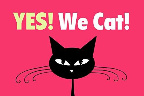 NWFS Yes! We Cat! Cómic Placa de Metal Signo de Metal Tin Sign Arqueado Barnizado 20 X 30CM