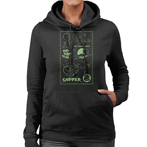 Casper The Friendly Ghost Pop Zop Slam Stamp Women's Hooded Sweatshirt