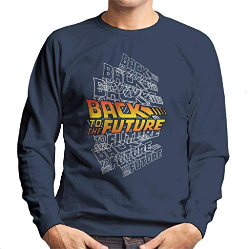 Men's Back To The Future Layered Logo Sweatshirt, S to XXL