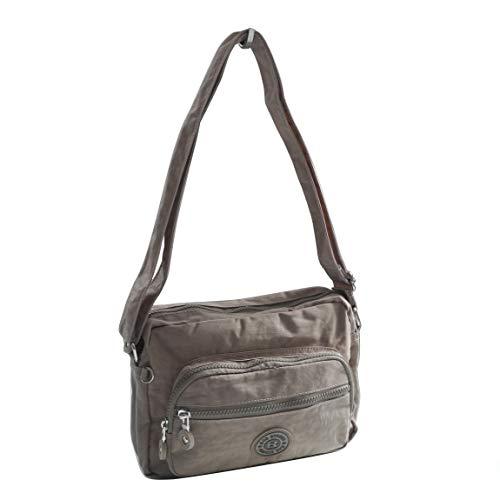 Bag Street -präsentiert von ZMOKA® , Borsa Messenger  Unisex adulto, grigio pietra (Marrone) - 0