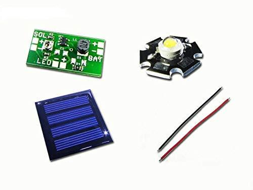 Solar-Leuchten Tuning-Kit Bausatz für 1,2V Akku Solar Leuchten LED warmweiss 100mA Solarzelle