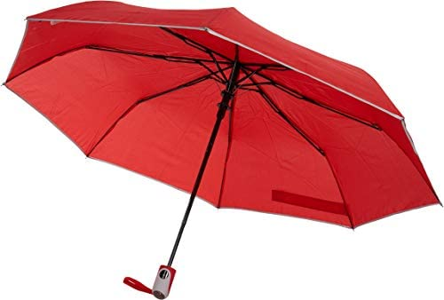 TAHARI Automatic Open Compact Travel Umbrella With Matching Rubberized Grip Handle for Men and product image