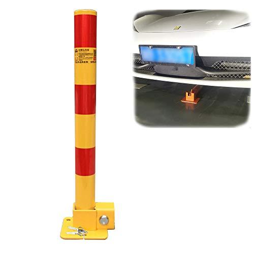 XGGYOOG Klappbarer Parkschutzpfosten, Stahl-Absperrpfosten, mit Schlüssel und Bolzen/Red Yellow / 62CM