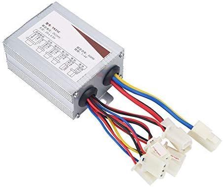 Caja del Controlador del Motor Eléctrico, Controlador De Velocidad del Motor Controller-24V 500W Sin Escobillas para Bicicleta Eléctrica Scooter (Color : Blanco)