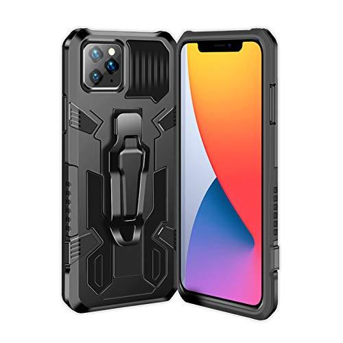 Ubrand DBLX Funda para iPhone 11 Pro MAX, con [Pinza de cinturón][Soporte Base] Caracteristicas de Carcasa, Anti-arañazos, Anti-Golpes, Militar Libro Bumper telefono Case - Negro