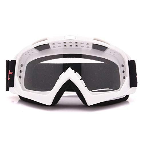 Poseca Winter Ski Snowboard Brille, Motorrad Racing Brillen Motocross Off-Road Bike ATV Googles Ski Snowboard Brille Für Männer Frauen Bunte Linse, Winddicht, Anti-Fog, Anti UV