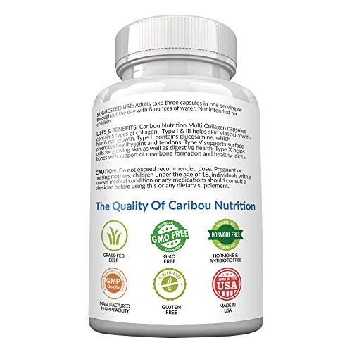 41jj1cBfzwL - Multi Collagen Pills - 180 Collagen Pills - Type I, II, III, V & X Collagen Capsules - Unique Blend of Collagen Peptides Capsules - Wild Fish, Eggshell, Chicken & Grass-Fed Beef Collagen Supplements