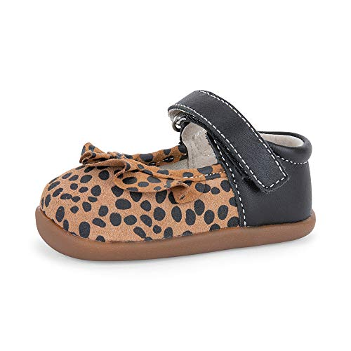 See Kai Run, Belle II Mary Jane for Infants, Brown/Spots, 3