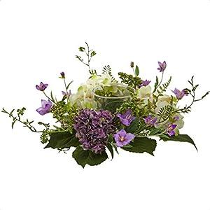 Silk Flower Arrangements Hydrangea and Berry Candelabrum