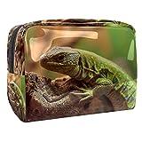 Kit de Maquillaje Animal Lagarto Neceser Makeup Bolso de Cosméticos Portable Organizador Maletín para Maquillaje Maleta de Makeup Profesional 18.5x7.5x13cm