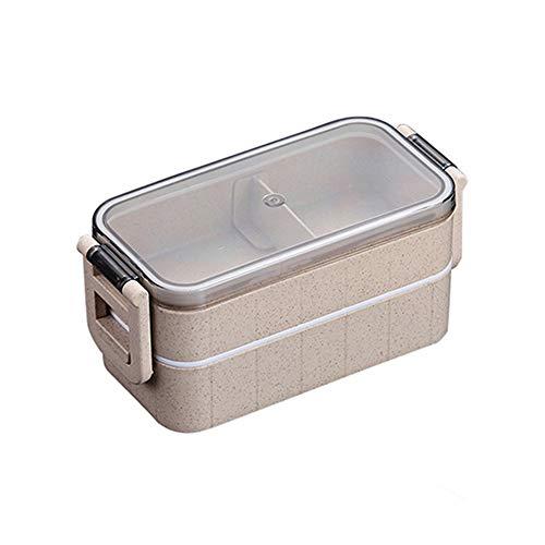 Tarwestro Stapelbare lunchbox, met zak en herbruikbaar bestek Benodigdheden Box Bento Box Plastic Vaatwasmachinebestendig voor volwassen kind
