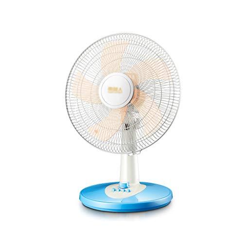 LJHA fengshan Household Ventilatore, da 16 Pollici Portatile Blu Silenzioso Scuotere La Testa Ventilatore da Tavolino con La Scuderia di Base, Adatto Ad Dormitorio Ufficio