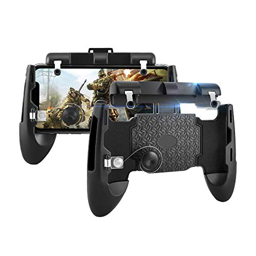 Newseego PUBG Mobile Game Controller, 6-in-1-Gamepad und L1R1-Trigger, Sensitive Shoot Aim Joysticks Physikalische Tasten für Android und iOS für Knives Out/Überlebensregeln/PUBG