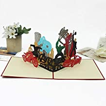 3D Avengers Pop Up Card and Envelope - Unique Pop Up Greeting Cards for Birthday, Christmas, New Year, Anniversary, Valentine, Wedding, Graduation, Thank You. Avengers