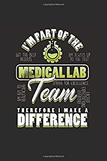 I'm Part of the Medical Lab Team Therefore I make a Difference: Cool Animated Design For Medical Lab Team Professionals  N...