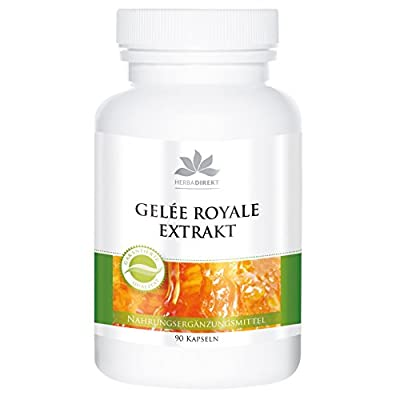 herba direkt Royal Jelly Extract 4:1 from 2000mg Royal Jelly, Without Silicon Dioxide, 90 Capsules