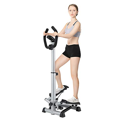 Ejoyous Step Machine for Exercise, Adjustable Workout Stepper Machine Folding Twist Stair Stepper with Handle Bar and LCD Monitor for Home Gym Office Health Fitness Equipment