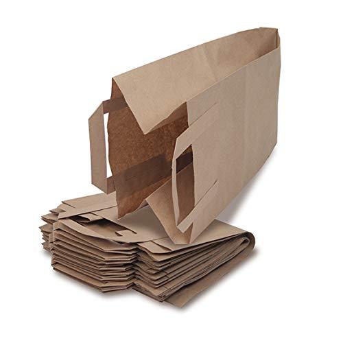 Bioabfalltüten Reißfeste Biomülltüten aus Papier mit praktischem Tragegriff und Rollboden – 40 x 10l Bioabfalltüten für jede Bio-Mülltonne geeignet – 100% kompostierbar