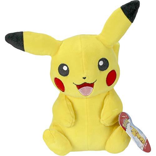 Lively Moments Pokemon Plüschtier / Kuscheltier / Stofftier sitzendes lächelndes Pikachu ca. 20 cm
