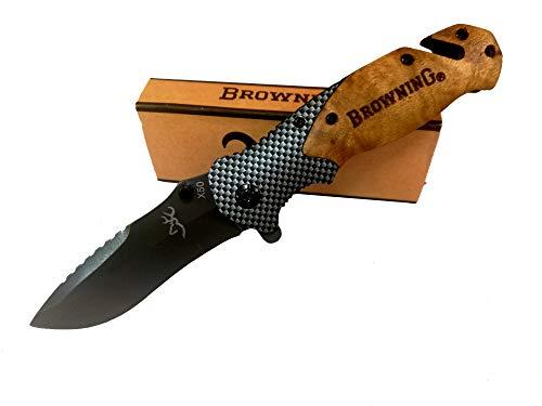 Coltello pieghevole,Coltello multifunzione,Tasca pieghevole per coltello ideale per le tue escursioni Escursionismo, caccia e campeggio.Coltello in titanio pieghevole