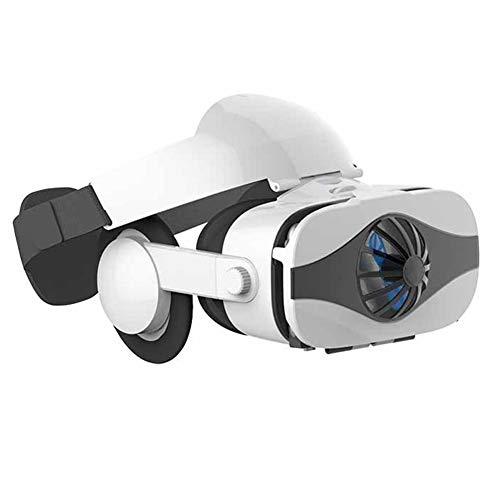 Wan&ya VR Headset All-In-One Smart Virtual Reality con Ventilador de enfriamiento Gafas 3D VR para películas Videojuegos FOV 122 ° / 360 ° Stereo VR Goggles para Android iPhone 4.0'- 6.5' Teléfono