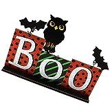 GDEVNSL Decoraciones de Mesa de Halloween Señales de Mesa de Madera Adorno de Halloween de pie Independiente Centros de Mesa de Vacaciones Repisa de Chimenea Decoración de Chimenea