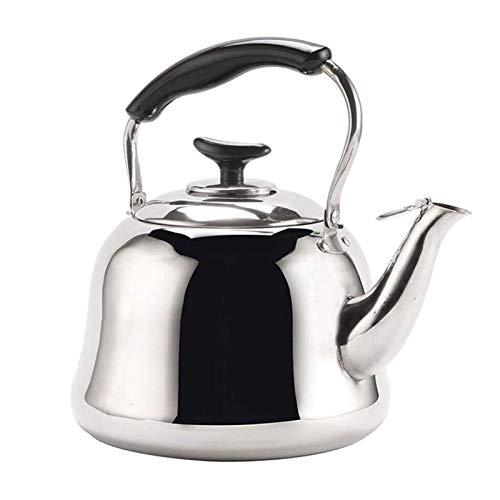 RUIXINLI Estufa Kettle Whistle, El Calor del hogar en el Gas Cocina de inducción quemadores Whistling Kettle Tradicional Caldera de té de la Tetera (Size : 3l)