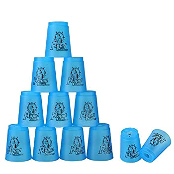 Super Stacks Quick Stacks Cups Rapid Sport Stacking Cups Speed Training Set of 12  Blue