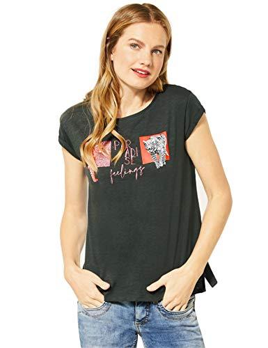 Street One Damen 315049 T-Shirt, Comfort Green, 40