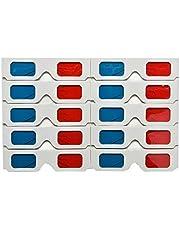 10pcs / Set anaglifo de Papel Universal Gafas 3D Rojo Azul Cartón Juego de la película de DVD Vídeo TV Gafas 3D