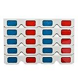 F-blue Papier Universel anaglyphe Lunettes 3D Rouge Bleu Carton Film DVD Jeu Vidéo TV Lunettes 3D 10pcs / Set