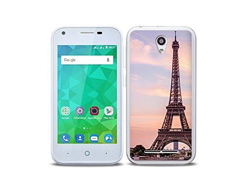 etuo Handyhülle für ZTE Blade L110 - Hülle Foto Hülle - Eiffelturm in Paris - Handyhülle Schutzhülle Etui Hülle Cover Tasche für Handy